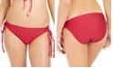 Hula Honey Juniors' Rhythm Ribbed Side-Tie Hipster Bikini Bottoms, Created For Macy's