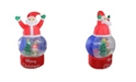 Northlight 4.75' Inflatable Santa Claus Snow Globe Lighted Christmas Outdoor Decoration
