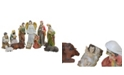 Northlight 11-Piece Traditional Religious Christmas Nativity Set with Removable Baby Jesus