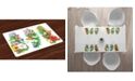 Ambesonne Watercolor Flower Place Mats, Set of 4