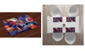 Ambesonne Contemporary Place Mats, Set of 4