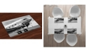 Ambesonne Vintage-Like Airplane Place Mats, Set of 4