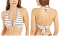 Lauren Ralph Lauren Metallic-Stripe Ring  Halter Bikini Top