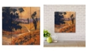 """Courtside Market Afternoon II 12"""" x 12"""" Wood Pallet Wall Art"""