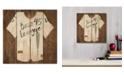 """Courtside Market Vintage like Sports Boss League 12"""" x 12"""" Wood Pallet Wall Art"""