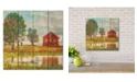"Courtside Market Lakeside Red Barn 12"" x 12"" Wood Pallet Wall Art"