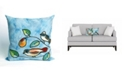 "Liora Manne Visions III Song Birds Indoor, Outdoor Pillow - 20"" Square"