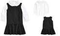 Polo Ralph Lauren Baby Girls Cotton Shirt & Ponte Dress Set