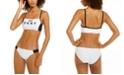 DKNY Logo Bralette Bikini Top & Scoop Bottoms