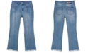 Calvin Klein Big Girls Frayed Flare-Leg Jeans