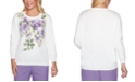 Alfred Dunner Loire Valley Cotton Embellished Sweater