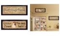 "Trendy Decor 4U Faith Family Friends This Chick 2-Piece Vignette by Gail Eads, Black Frame, 20"" x 8"""