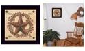"Trendy Decor 4U Peace, Love, Hope, Joy by Linda Spivey, Ready to hang Framed Print, Black Frame, 14"" x 14"""