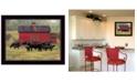 "Trendy Decor 4U By the Red Barn by Bonnie Mohr, Ready to hang Framed Print, Black Frame, 18"" x 14"""
