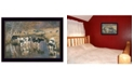 """Trendy Decor 4U Fall Reflections Holsteins in River by Bonnie Mohr, Ready to hang Framed Print, Black Frame, 20"""" x 14"""""""