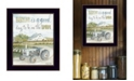 """Trendy Decor 4U Good Day, Antique Ford Tractor by Cindy Jacobs, Ready to hang Framed Print, Black Frame, 14"""" x 18"""""""