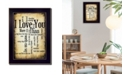 "Trendy Decor 4U I Love You By Susan Ball, Printed Wall Art, Ready to hang, Black Frame, 14"" x 10"""