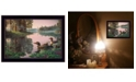 """Trendy Decor 4U Northern Tranquility by Kim Norlien, Ready to hang Framed Print, Black Frame, 20"""" x 14"""""""