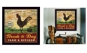 """Trendy Decor 4U Break of Day Rooster By Mollie B., Printed Wall Art, Ready to hang, Black Frame, 14"""" x 14"""""""