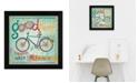 "Trendy Decor 4U Trendy Decor 4U Good Things Happen By Mollie B., Printed Wall Art, Ready to hang, Black Frame, 14"" x 14"""