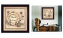 "Trendy Decor 4U Cherish Yesterday By Mary June, Printed Wall Art, Ready to hang, Black Frame, 14"" x 14"""