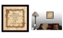 "Trendy Decor 4U Trendy Decor 4U Bless this Home By Linda Spivey, Printed Wall Art, Ready to hang, Black Frame, 14"" x 14"""