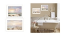 "Trendy Decor 4U Sunrise-Sunset 2 piece Vignette by Georgia Janisse, White Frame, 20"" x 14"""