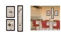 "Trendy Decor 4U The Kitchen Collection II 3-Piece Vignette by Millwork Engineering, Black Frame, 10"" x 32"""