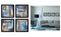 "Trendy Decor 4U Yoga Collection By Debbie DeWitt, Printed Wall Art, Ready to hang, Black Frame, 56"" x 14"""