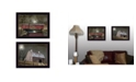 """Trendy Decor 4U Midnight Moon Collection By Billy Jacobs, Printed Wall Art, Ready to hang, Black Frame, 28"""" x 18"""""""