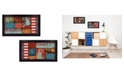 """Trendy Decor 4U Liberty and Freedom Collection By Marla Rae, Printed Wall Art, Ready to hang, Black Frame, 40"""" x 11"""""""