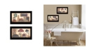 """Trendy Decor 4U Bath Collection By Pam Britton, Printed Wall Art, Ready to hang, Black Frame, 20"""" x 11"""""""