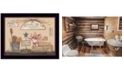 "Trendy Decor 4U Wash Room By Pam Britton, Printed Wall Art, Ready to hang, Black Frame, 18"" x 14"""