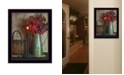 """Trendy Decor 4U Basket and Blossoms By SUSAn Boyer, Printed Wall Art, Ready to hang, Black Frame, 14"""" x 18"""""""