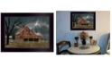 "Trendy Decor 4U Dark and Stormy Night by Billy Jacobs, Ready to hang Framed Print, Black Frame, 18"" x 14"""