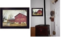 """Trendy Decor 4U Antique Barn By Billy Jacobs, Printed Wall Art, Ready to hang, Black Frame, 14"""" x 10"""""""