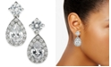 Charter Club Silver-Tone Crystal Teardrop Earrings, Created for Macy's