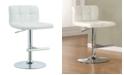 Coaster Home Furnishings Arcadia Adjustable Bar Stools with Padded Straight Line Back, Set of 2