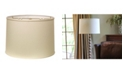 Cloth&Wire Slant Retro Drum Hardback Lampshade with Washer Fitter