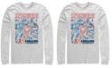 Marvel Men's Avengers Endgame Stronger Together Doodle Sketch, Long Sleeve T-shirt