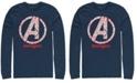 Marvel Men's Avengers Endgame Line Art Logo, Long Sleeve T-shirt