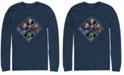 Marvel Men's Avengers Endgame Hero Four Square, Long Sleeve T-shirt
