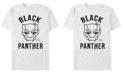 Marvel Men's Black Panther Mask Logo, Short Sleeve T-shirt