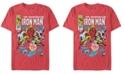 Marvel Men's Iron Man Invincible Premier Issue Comic Book Cover, Short Sleeve T-shirt