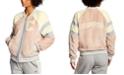 Champion Women's Super Fleece Faux-Fur Bomber Jacket