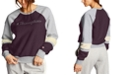Champion Women's Super Fleece Faux-Fur Colorblocked Metallic-Logo Sweatshirt