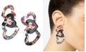 INC International Concepts INC Hematite-Tone & Resin Heart Linear Drop Earrings, Created For Macy's