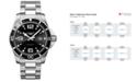 Longines Men's Swiss HydroConquest Stainless Steel Bracelet Watch 44mm L38404566
