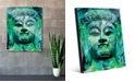 """Creative Gallery Teal Green Stained Buddha Abstract 16"""" x 20"""" Acrylic Wall Art Print"""