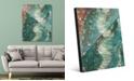 "Creative Gallery Tornado Lontano on Teal Abstract 16"" x 20"" Acrylic Wall Art Print"